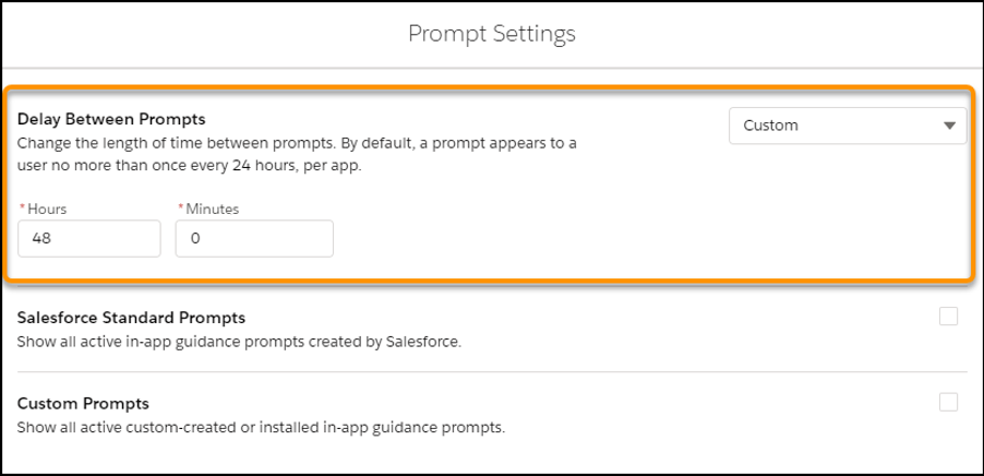 Delay Between Prompts
